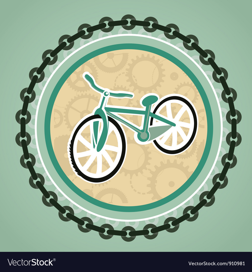 Card with bicycle vector | Price: 1 Credit (USD $1)