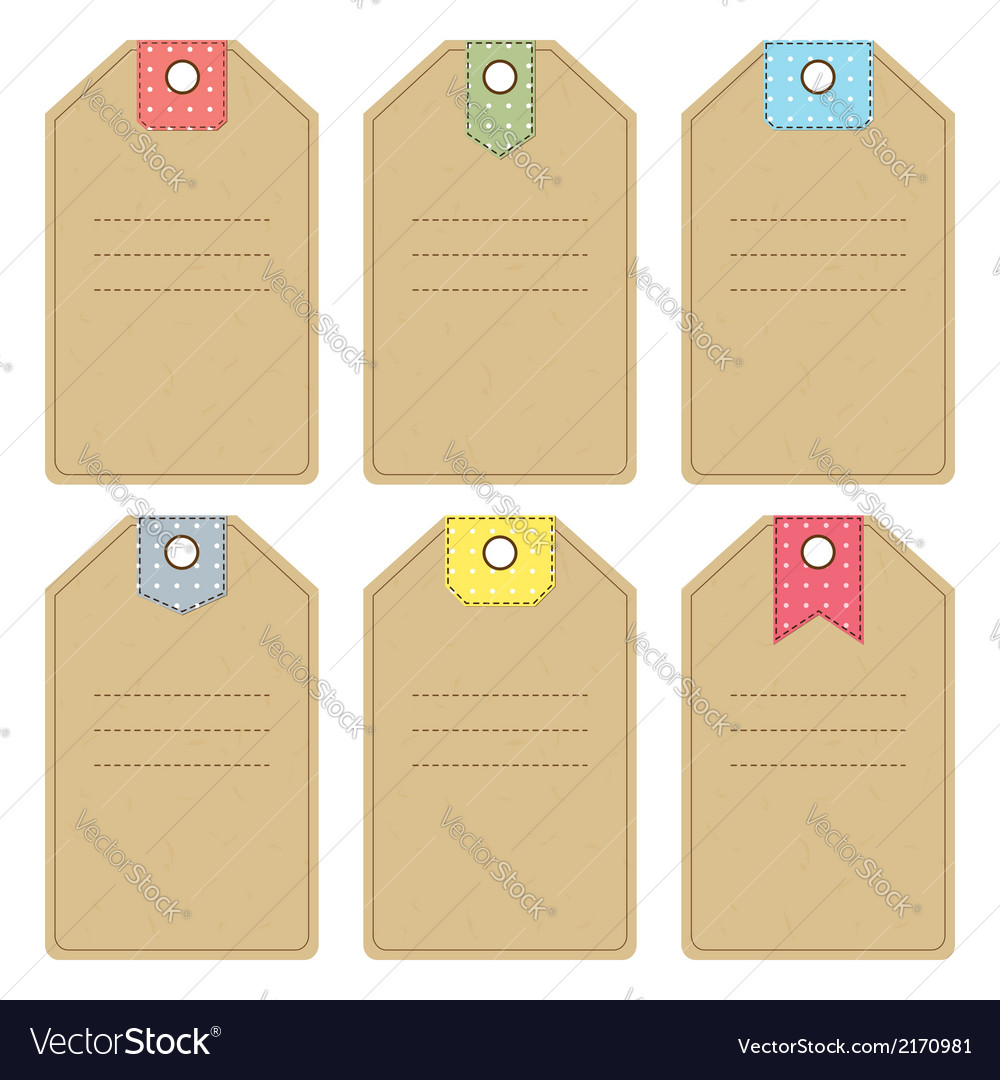 Carton gift or price tags vector | Price: 1 Credit (USD $1)