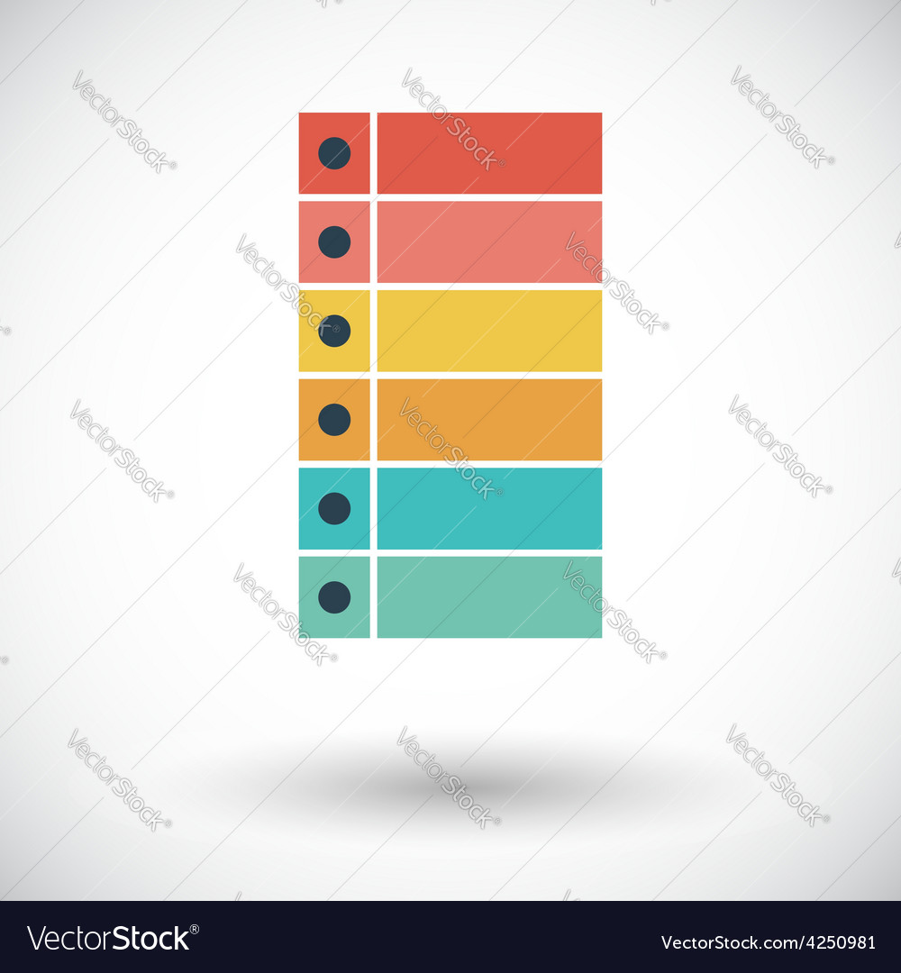 Check list flat vector | Price: 1 Credit (USD $1)