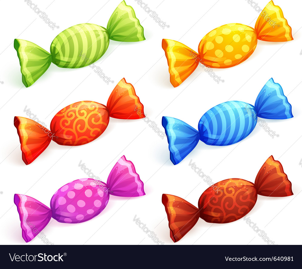 Colorful candies vector | Price: 3 Credit (USD $3)