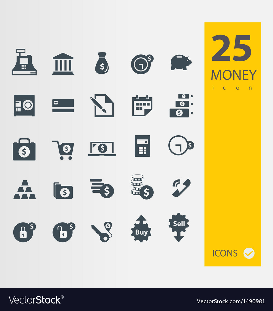 Finance and banking icons set vector | Price: 1 Credit (USD $1)