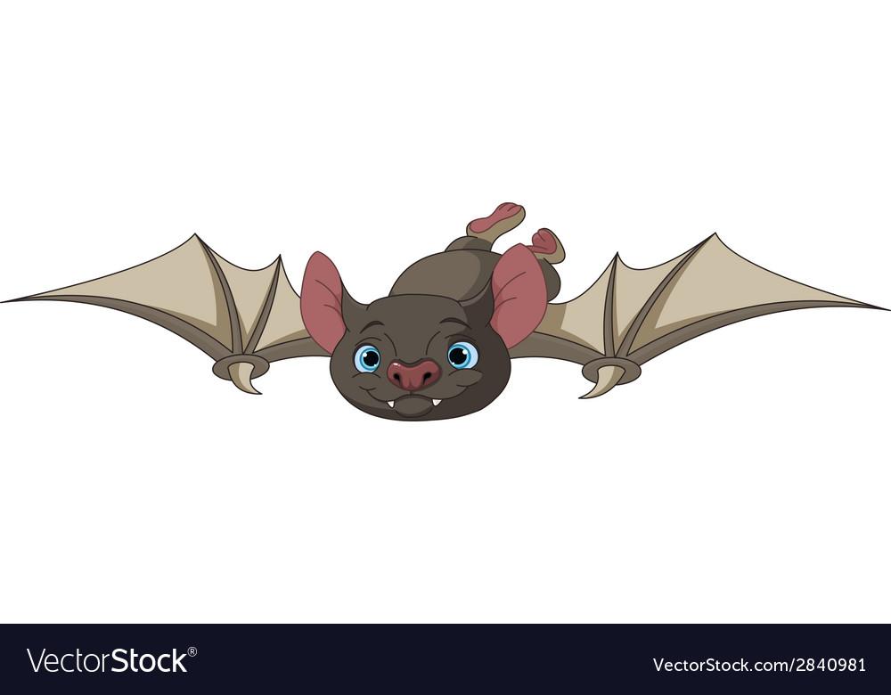 Halloween bat in flight vector | Price: 1 Credit (USD $1)