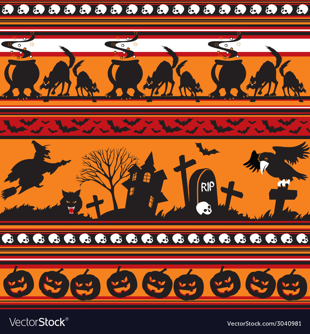 Halloween seamless vector | Price: 1 Credit (USD $1)