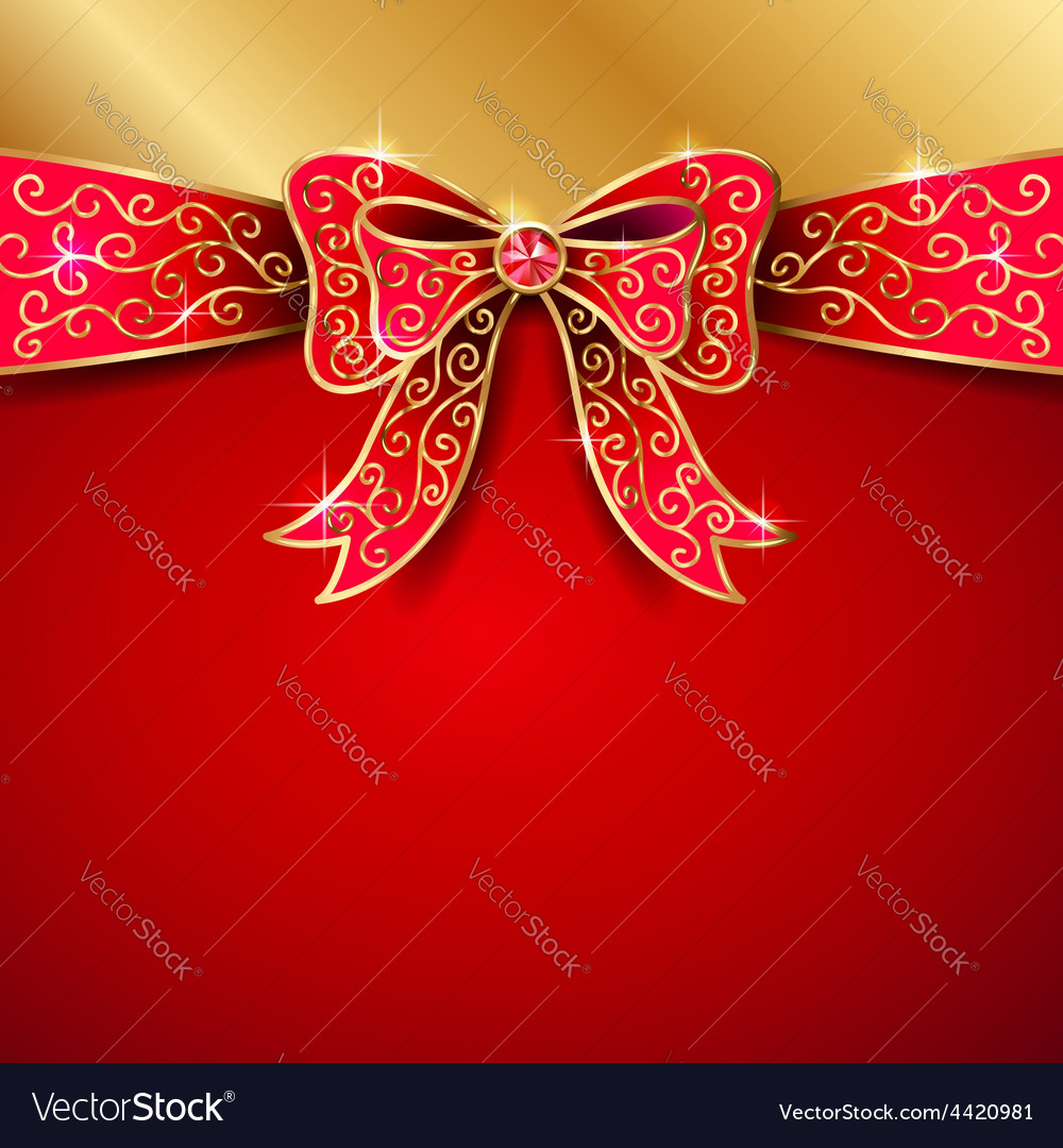 Jewel bow red vector | Price: 1 Credit (USD $1)