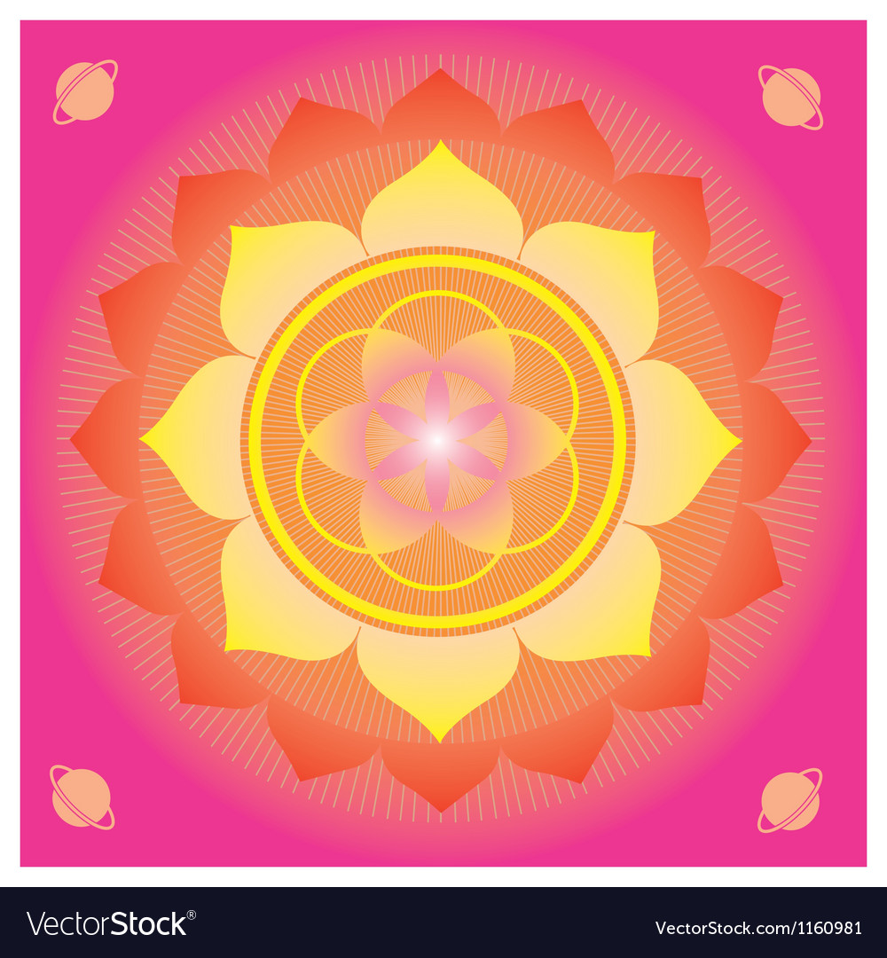 Life flower seed magic poster vector | Price: 1 Credit (USD $1)