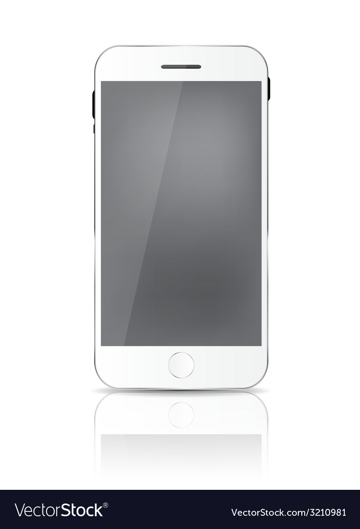 New realistic mobile phone with gray screen vector | Price: 1 Credit (USD $1)