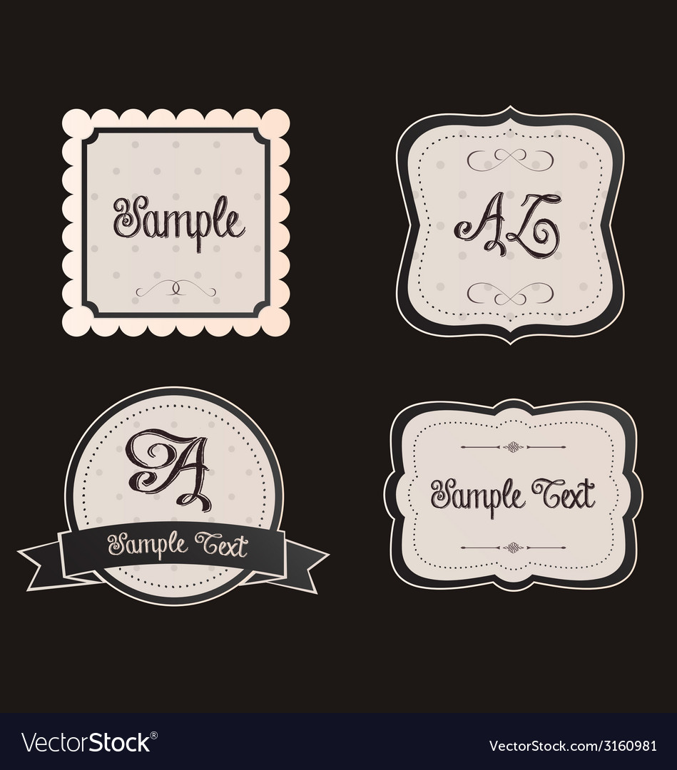 Pretty frames and signs vector | Price: 1 Credit (USD $1)