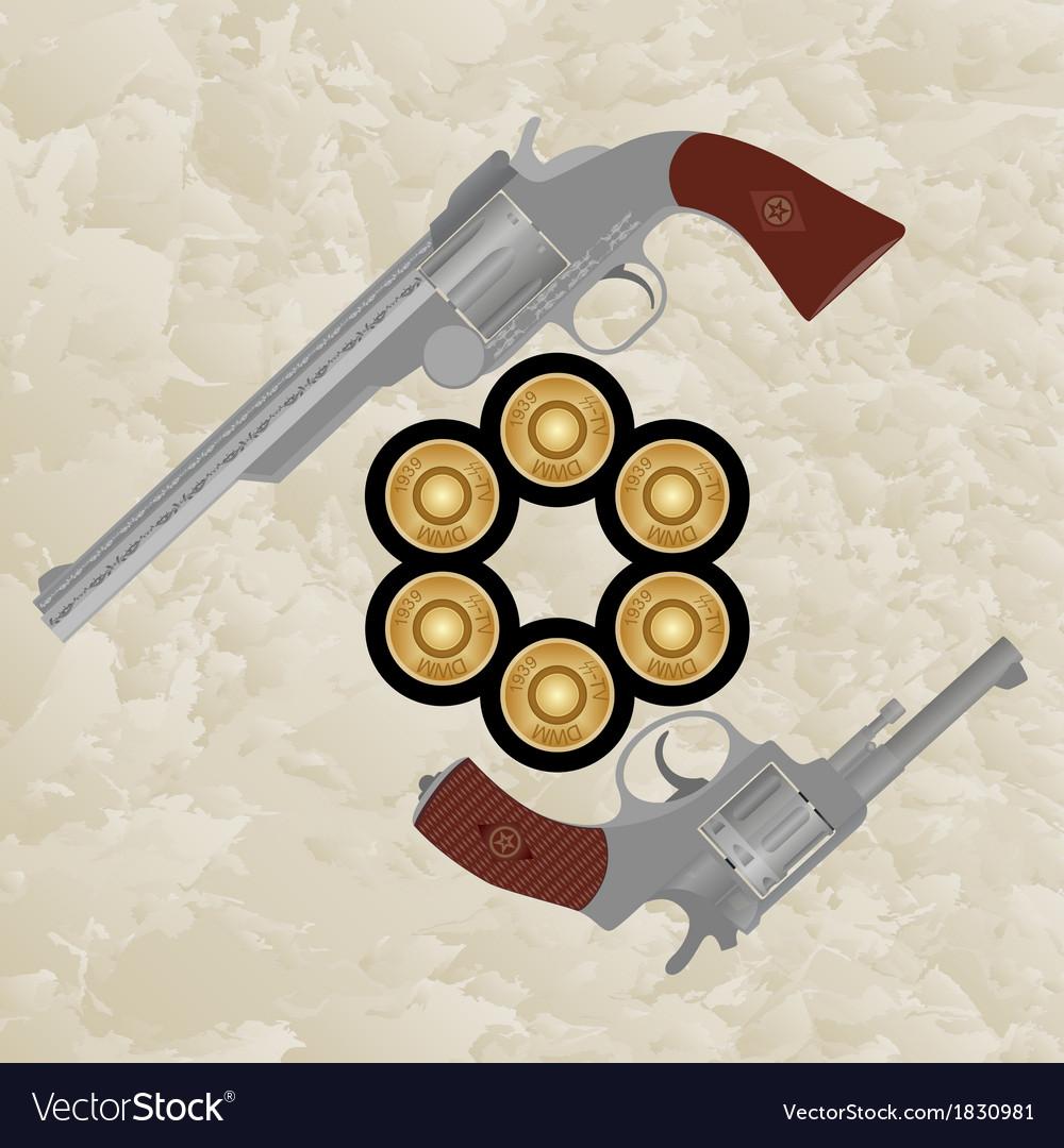 Revolvers and revolver ammunition vector | Price: 1 Credit (USD $1)