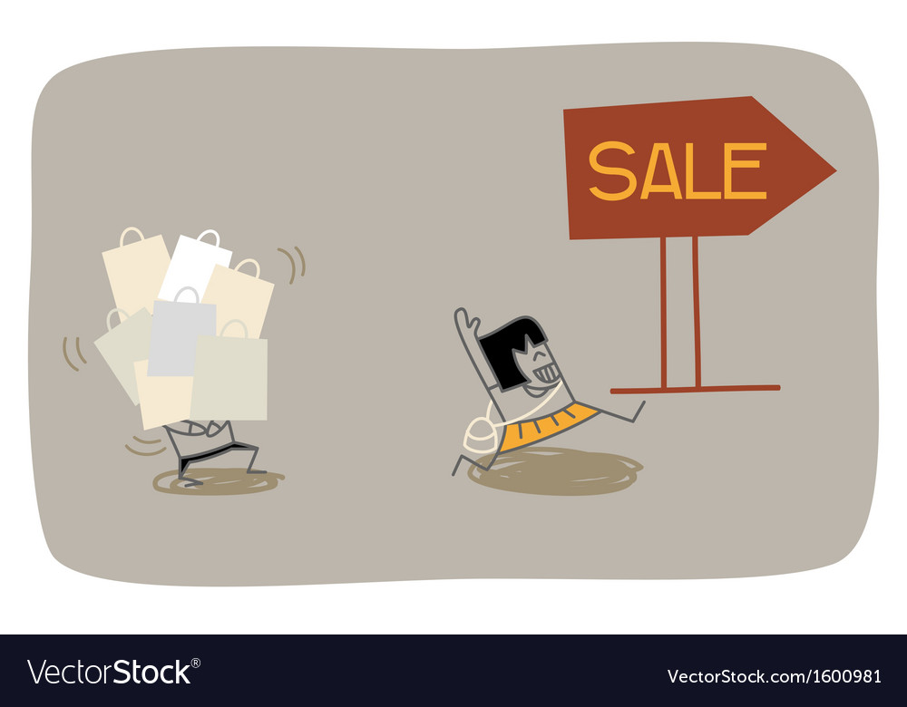 Wife shopping vector   Price: 1 Credit (USD $1)