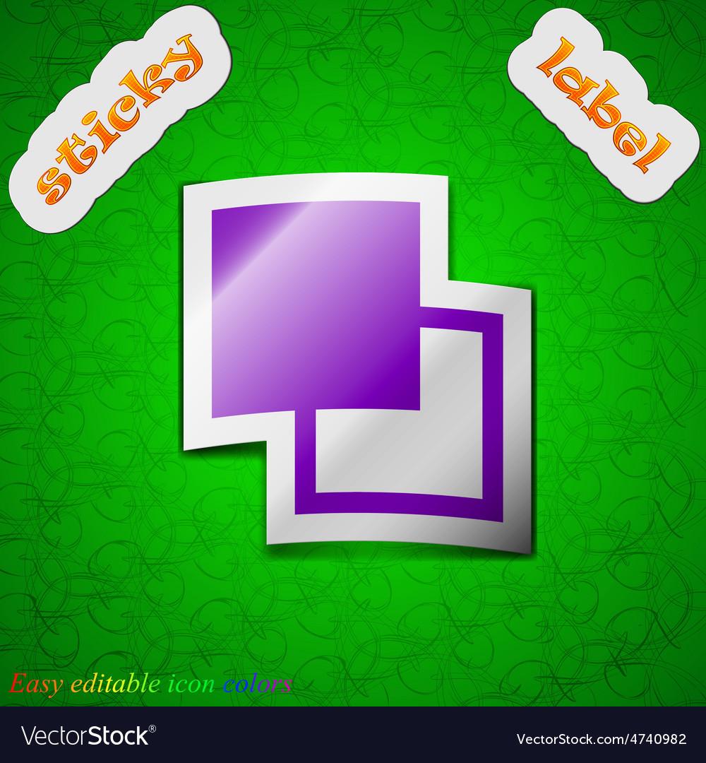 Active color toolbar icon sign symbol chic colored vector   Price: 1 Credit (USD $1)