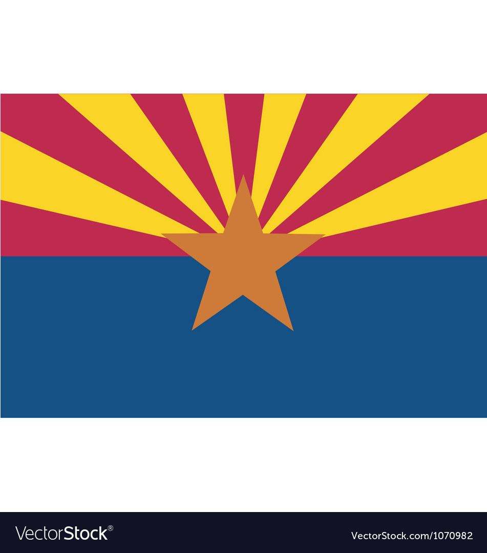 Arizonan state flag vector | Price: 1 Credit (USD $1)