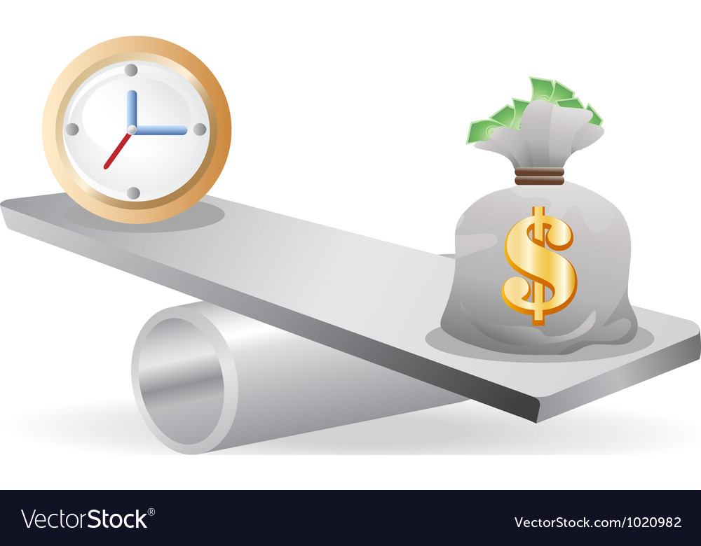 Balance between time and money vector | Price: 1 Credit (USD $1)