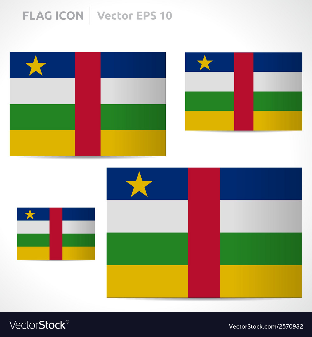 Central african republic flag template vector | Price: 1 Credit (USD $1)