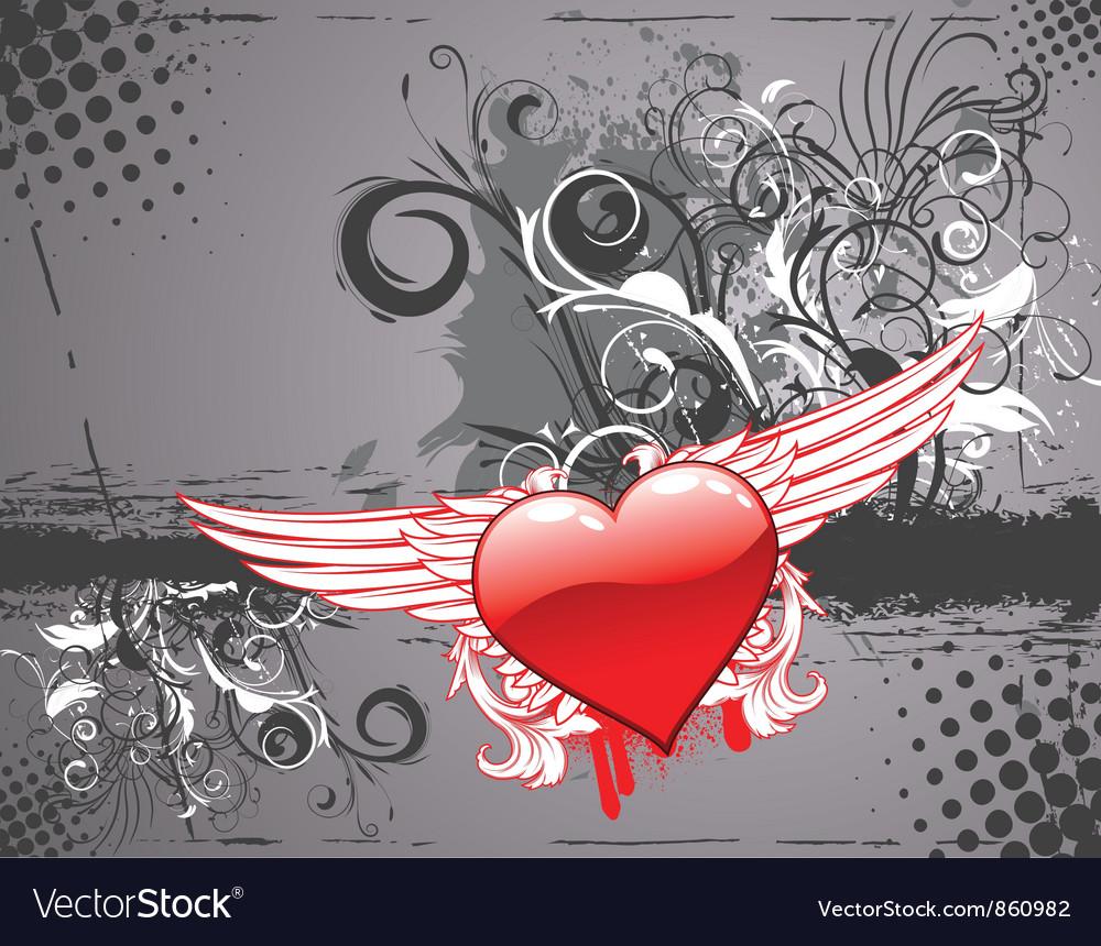 Grunge valentine background vector | Price: 1 Credit (USD $1)