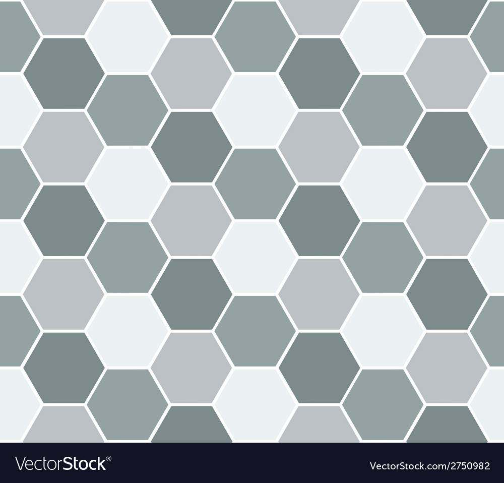 Multicolored hexagon geometric seamless background vector | Price: 1 Credit (USD $1)
