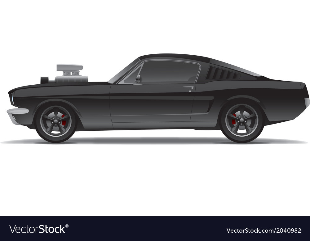 Muscle car vector | Price: 3 Credit (USD $3)