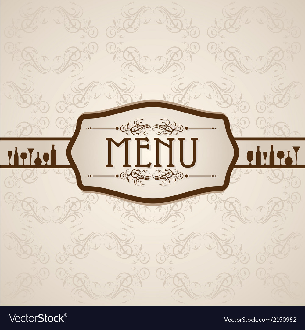 Template for menu card with cutlery vector | Price: 1 Credit (USD $1)