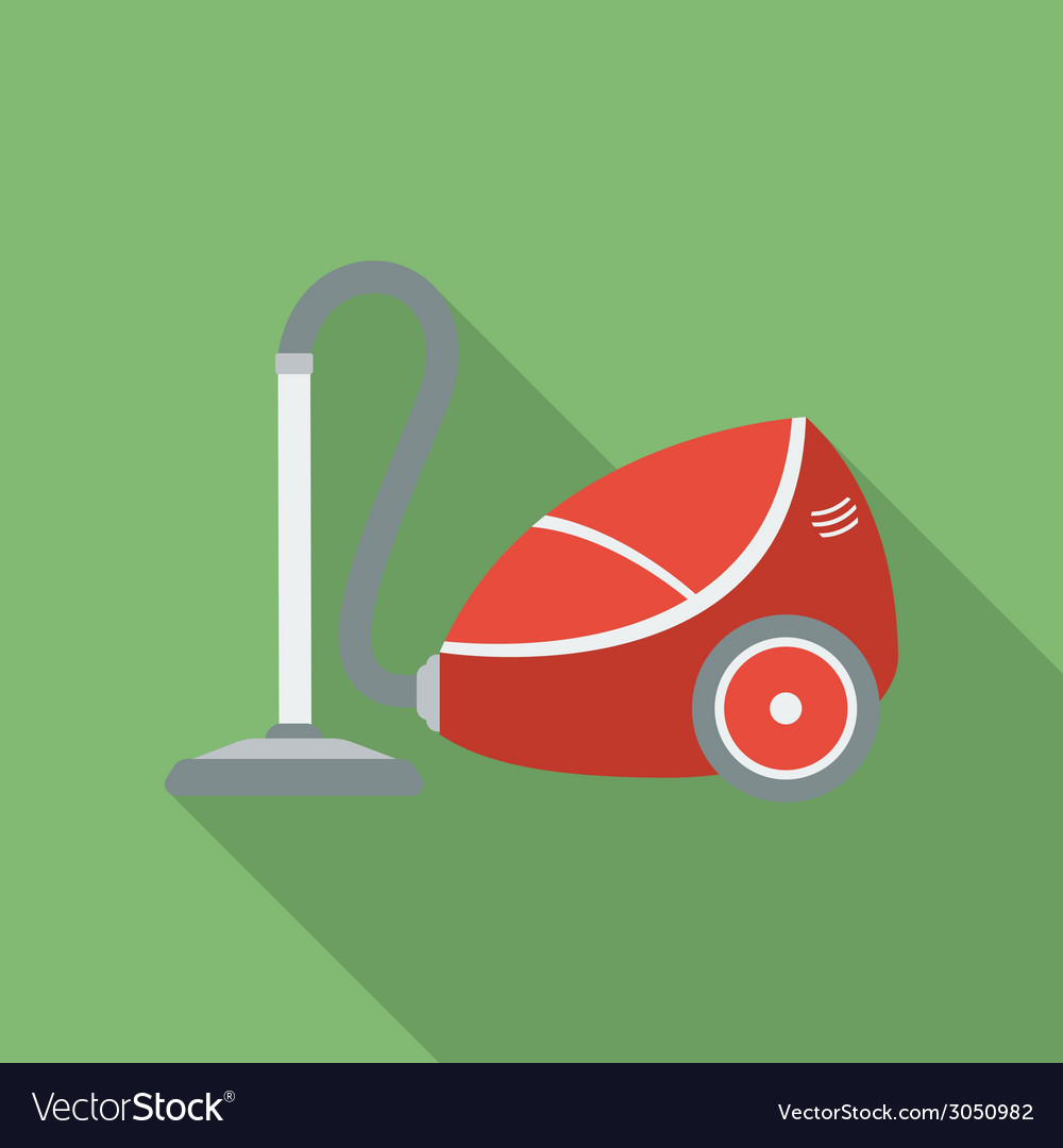 Vacuum cleaner icon modern flat style with a long vector | Price: 1 Credit (USD $1)