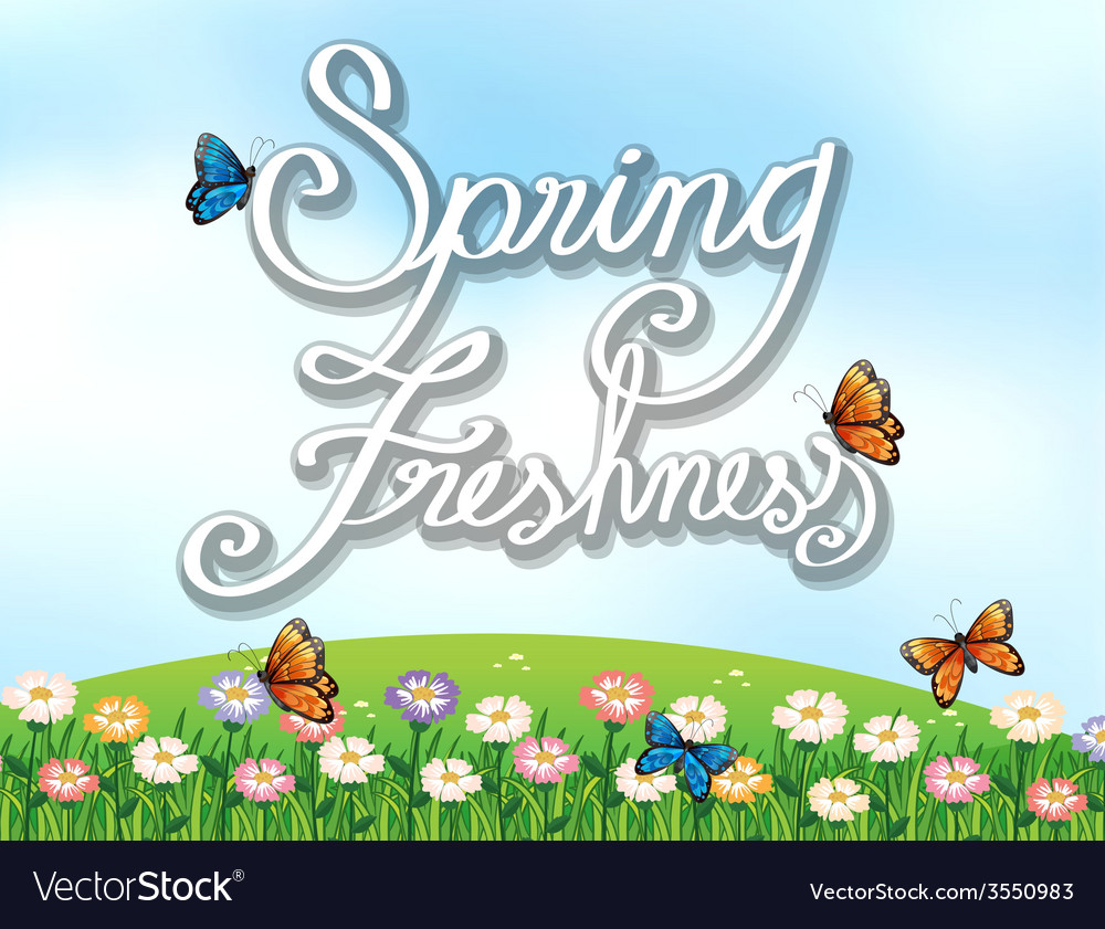 A spring freshness template vector | Price: 1 Credit (USD $1)