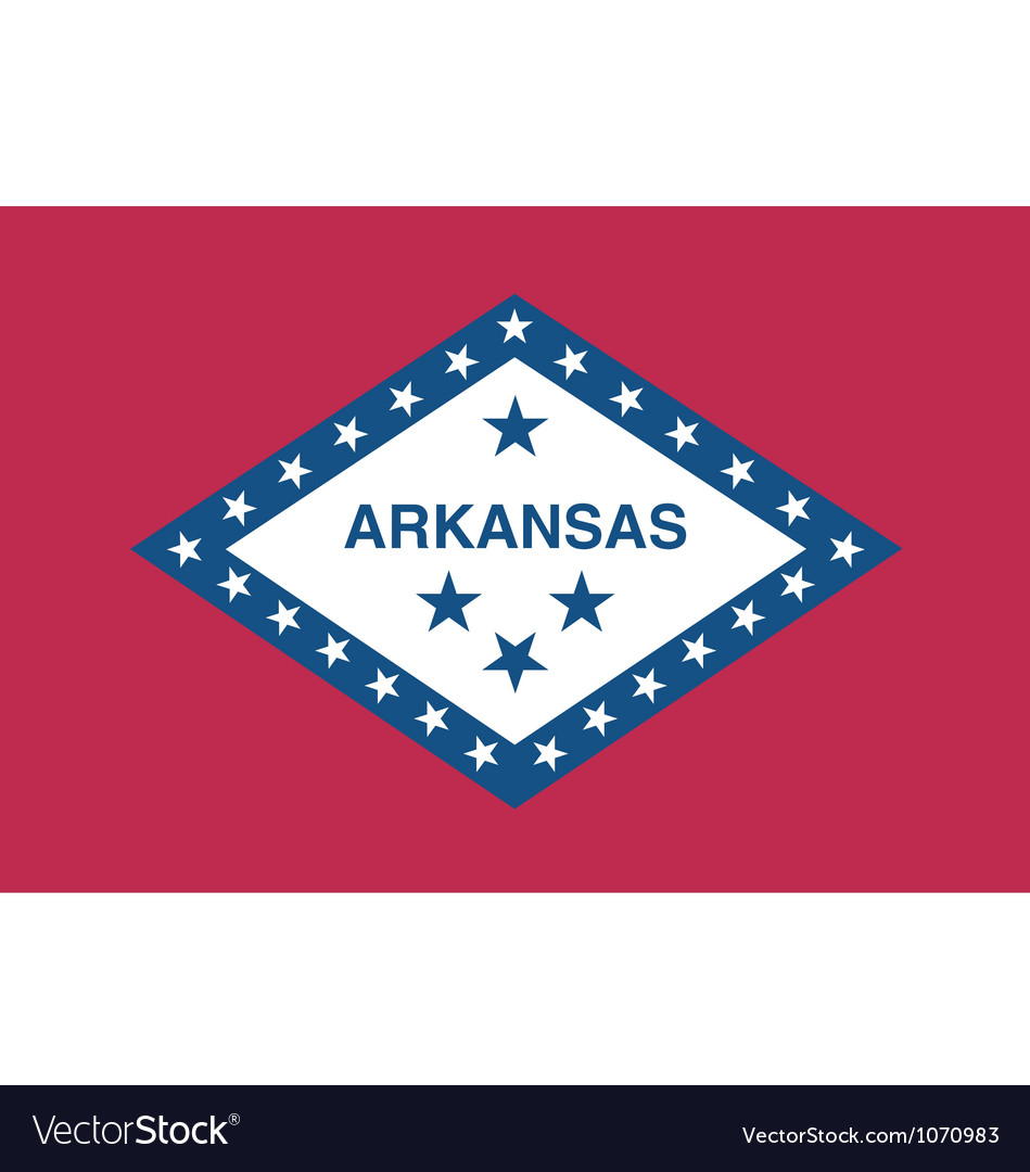Arkansan state flag vector | Price: 1 Credit (USD $1)