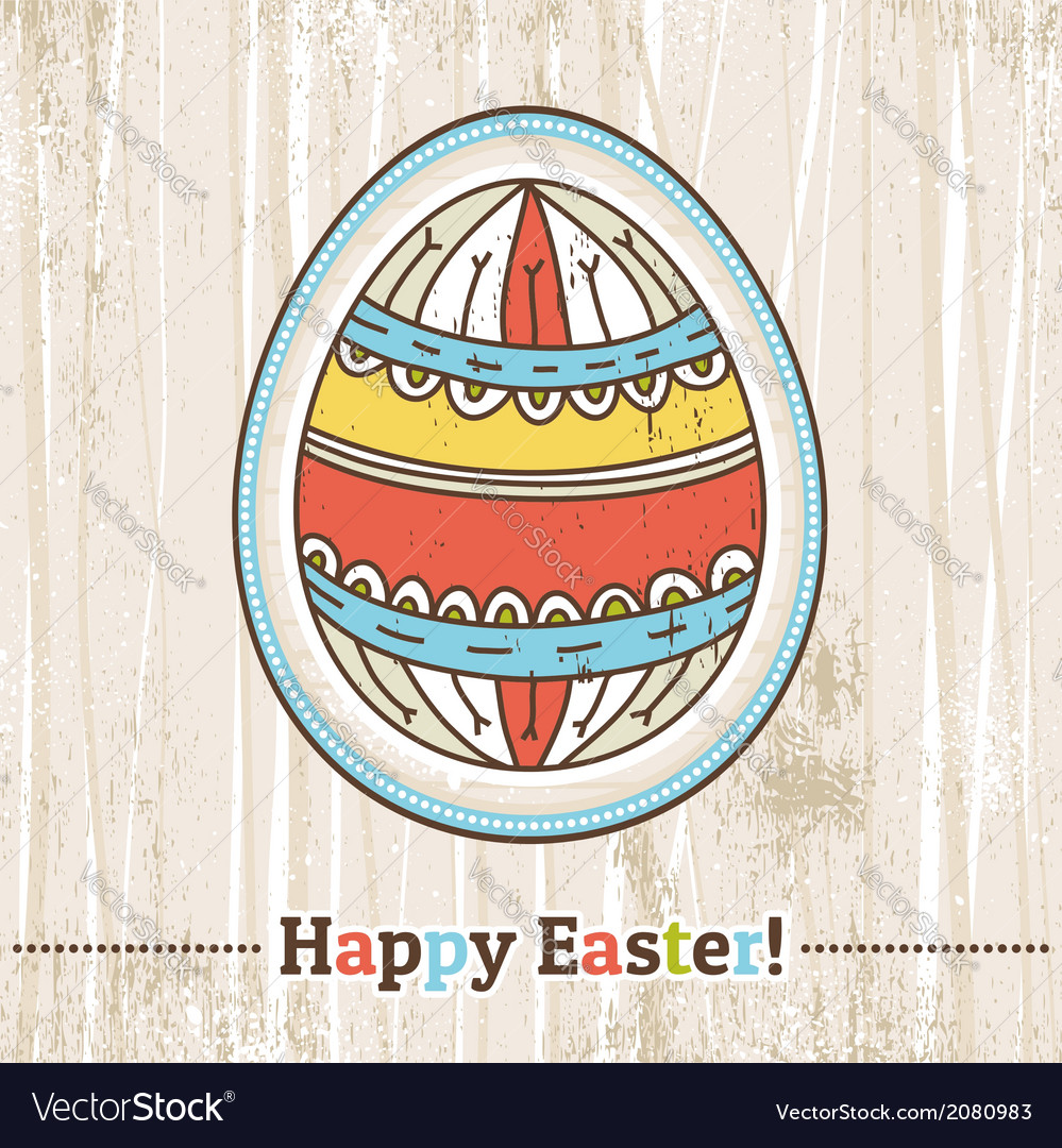 Background with easter egg and text vector | Price: 1 Credit (USD $1)