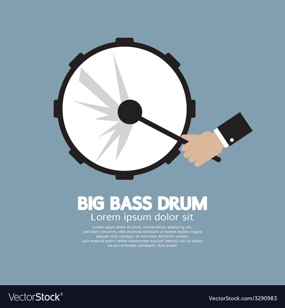 Big bass drum music instrument vector | Price: 1 Credit (USD $1)