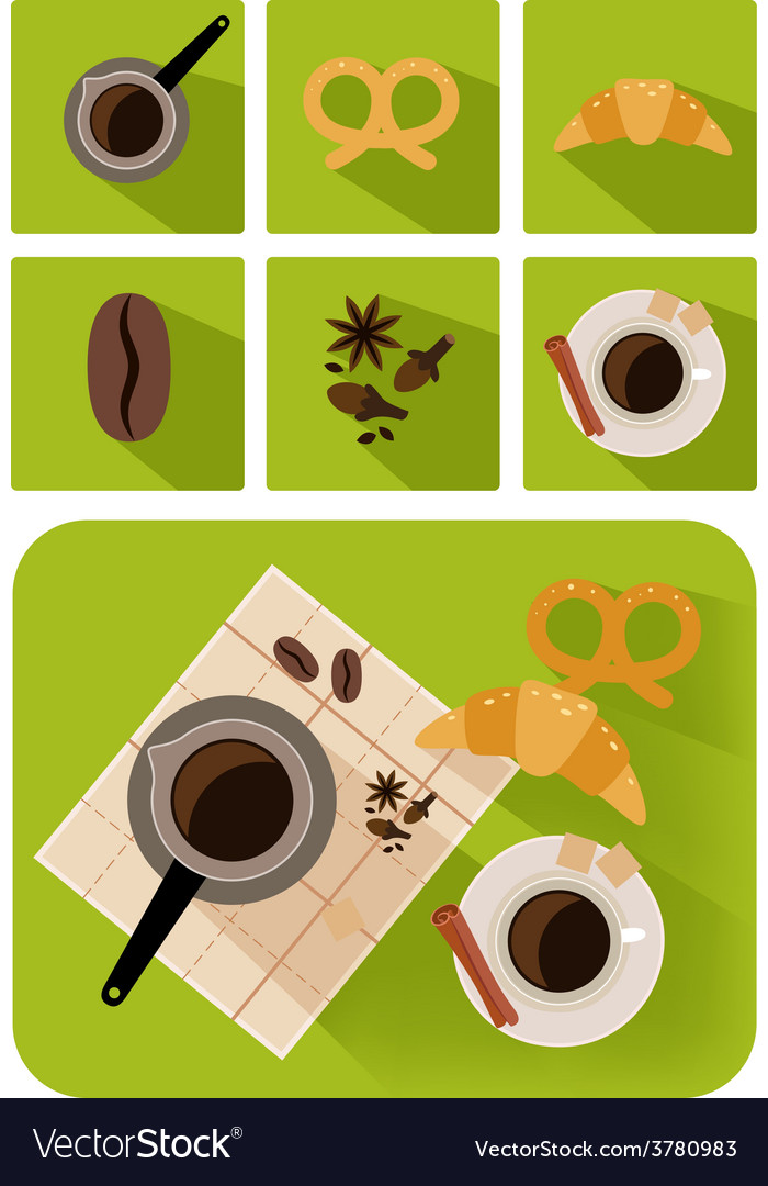 Coffee objects vector | Price: 1 Credit (USD $1)