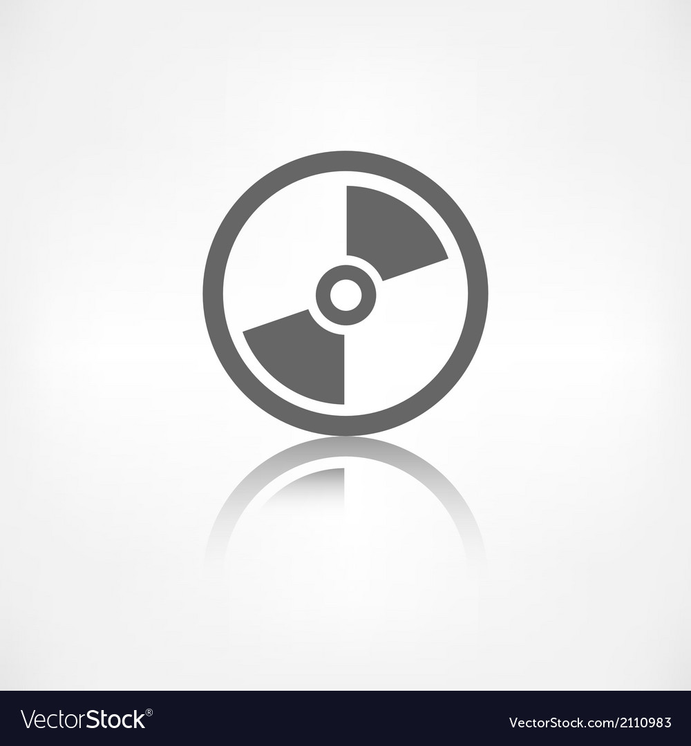 Compact disk web icon musical cd vector | Price: 1 Credit (USD $1)