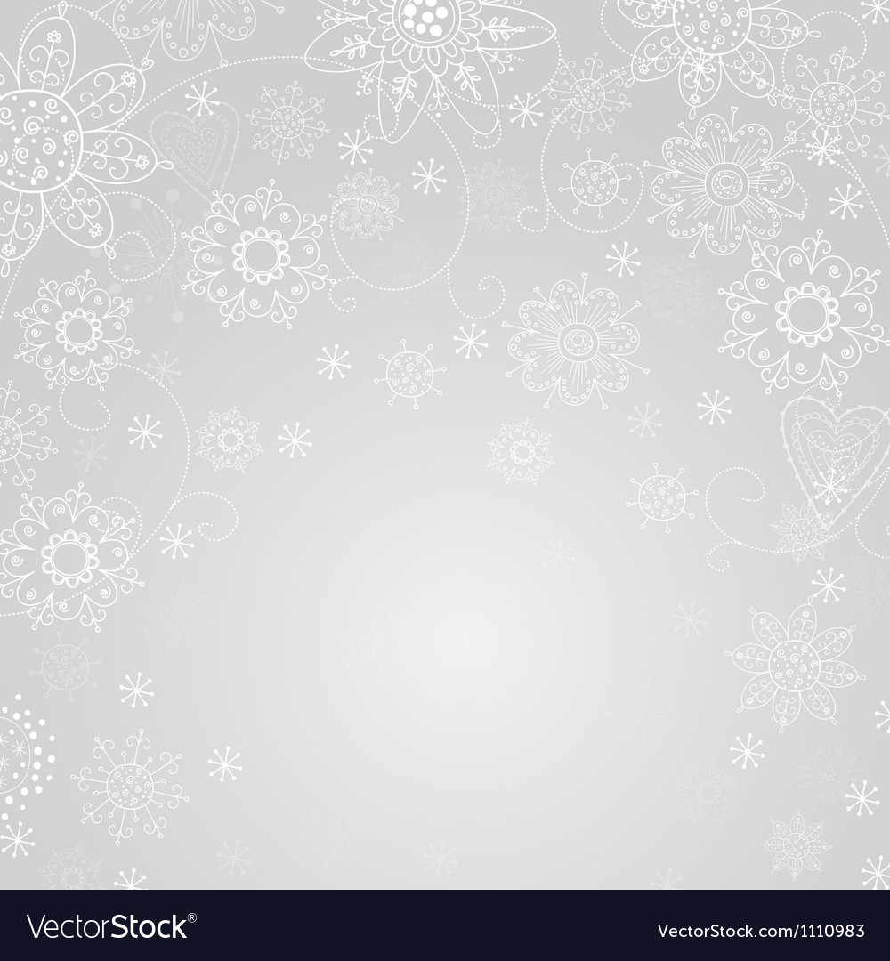 Gray abstract background with snowflake vector | Price: 1 Credit (USD $1)