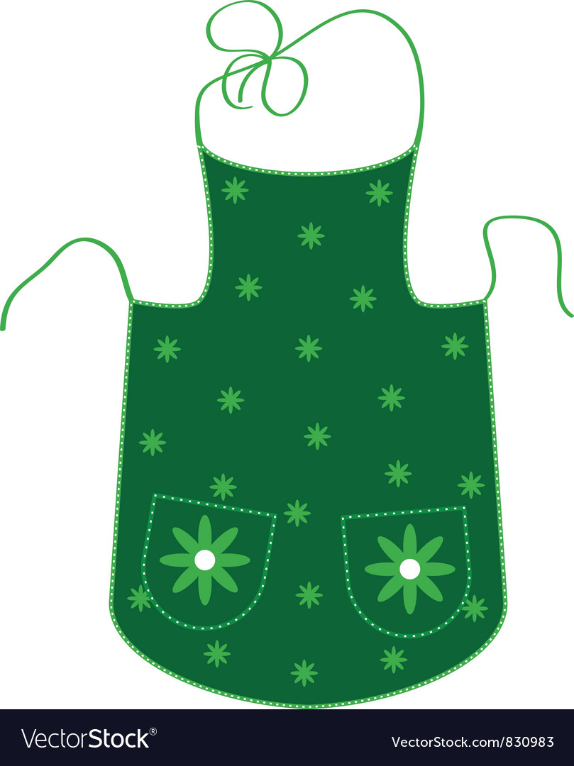 Green apron vector | Price: 1 Credit (USD $1)