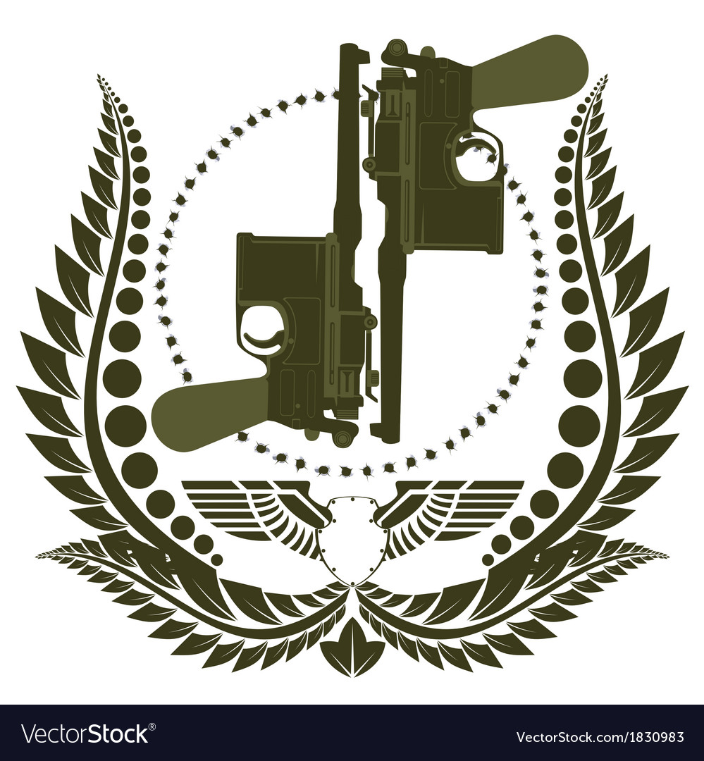 The icon with two mauser vector | Price: 1 Credit (USD $1)