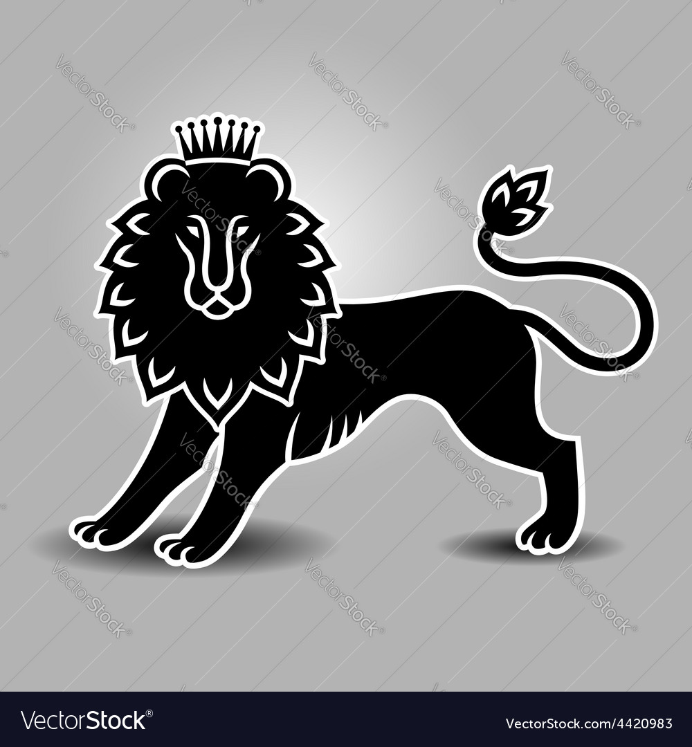 Lion symbol standing vector | Price: 1 Credit (USD $1)