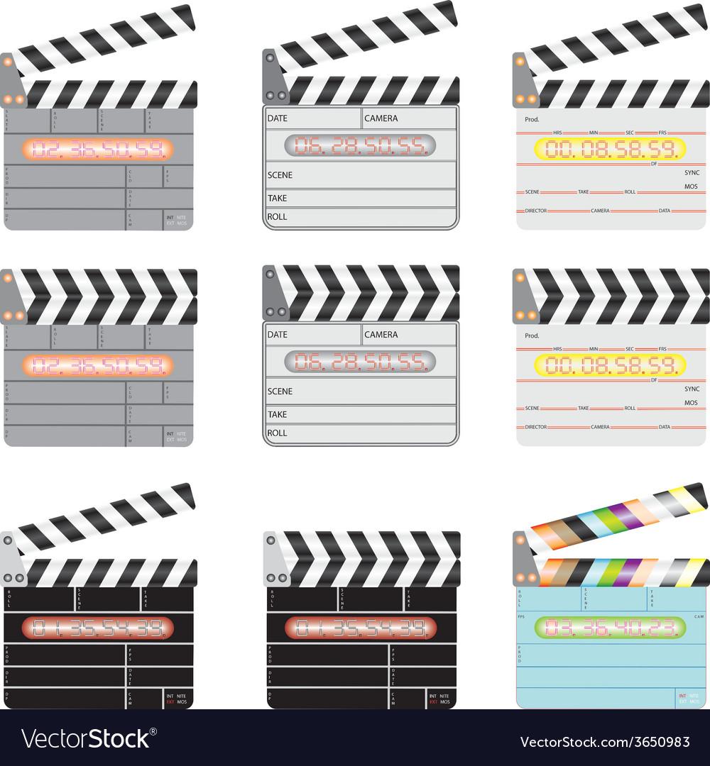 Movie clap vector | Price: 1 Credit (USD $1)