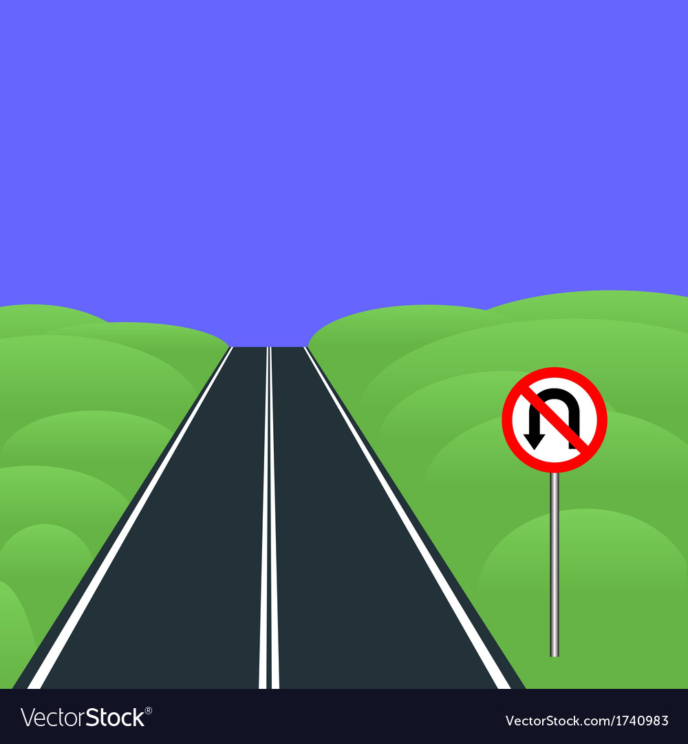 No u-turns vector | Price: 1 Credit (USD $1)
