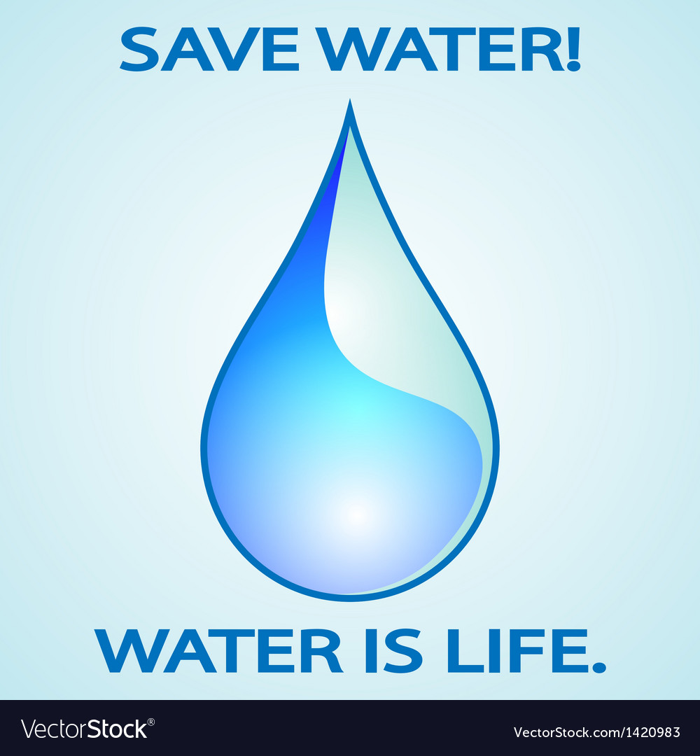 Save water vector | Price: 1 Credit (USD $1)