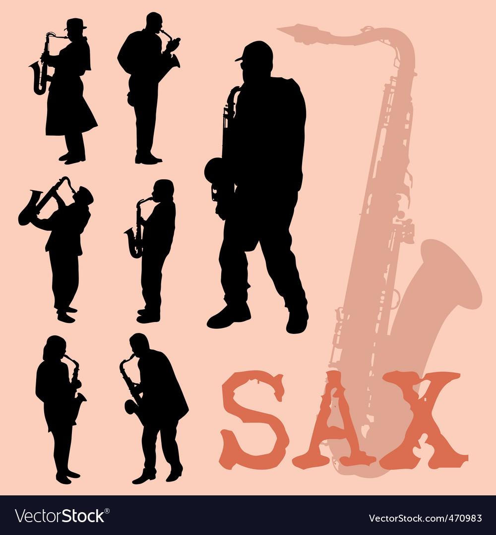 Saxophone set vector | Price: 1 Credit (USD $1)