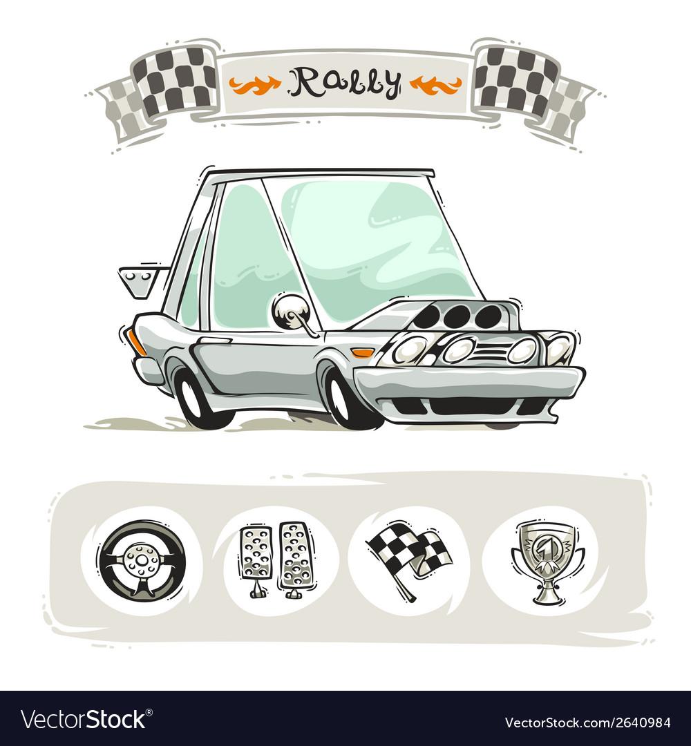 Cartoon sport car set vector | Price: 1 Credit (USD $1)