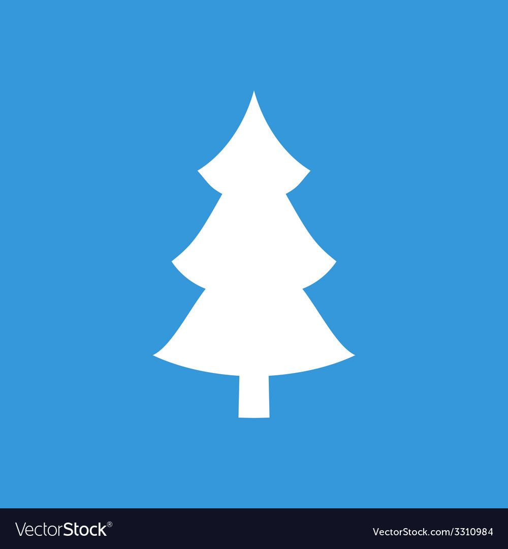 Christmas tree flat icon vector | Price: 1 Credit (USD $1)