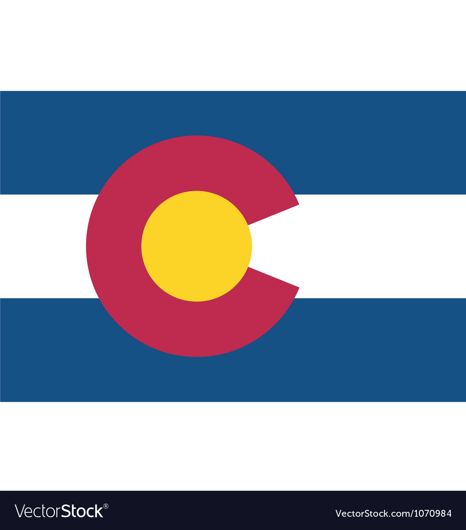 Coloradan state flag vector | Price: 1 Credit (USD $1)