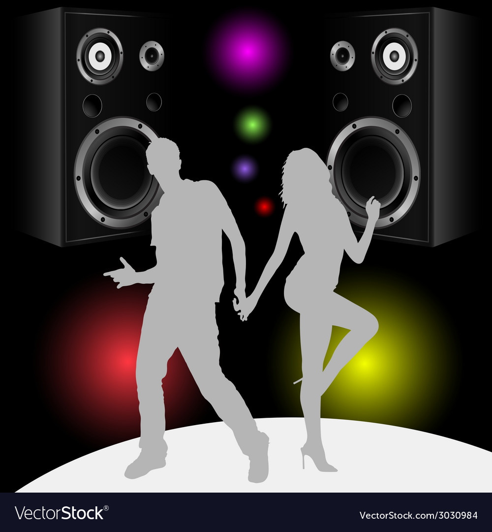 Couple in disco vector | Price: 1 Credit (USD $1)