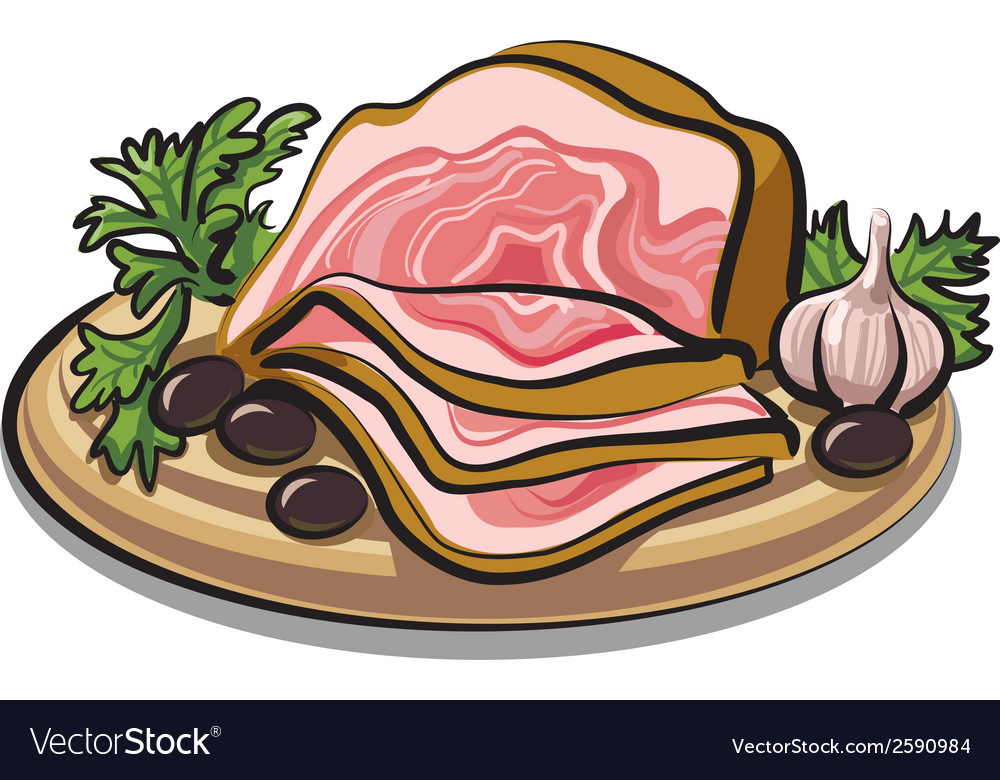 Fresh bacon vector | Price: 1 Credit (USD $1)