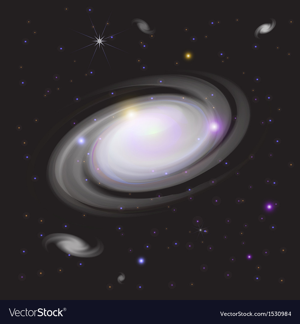 Galaxy in space vector | Price: 1 Credit (USD $1)