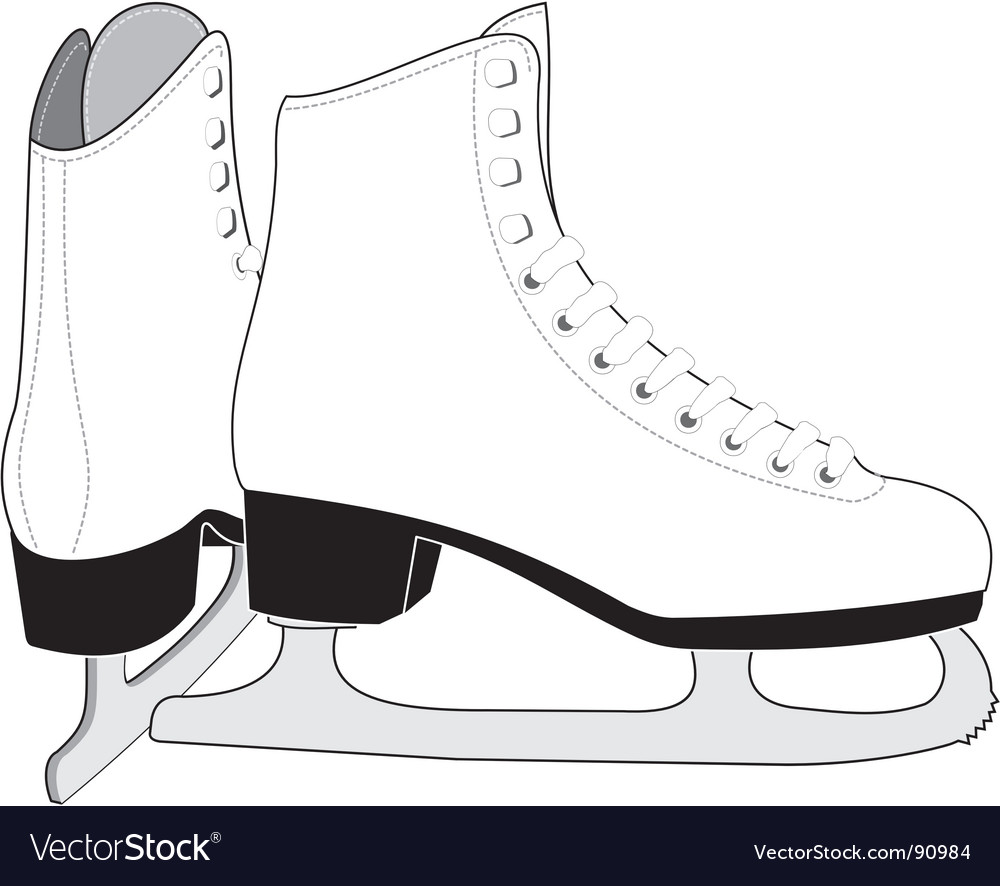 Lady's ice skates vector | Price: 1 Credit (USD $1)