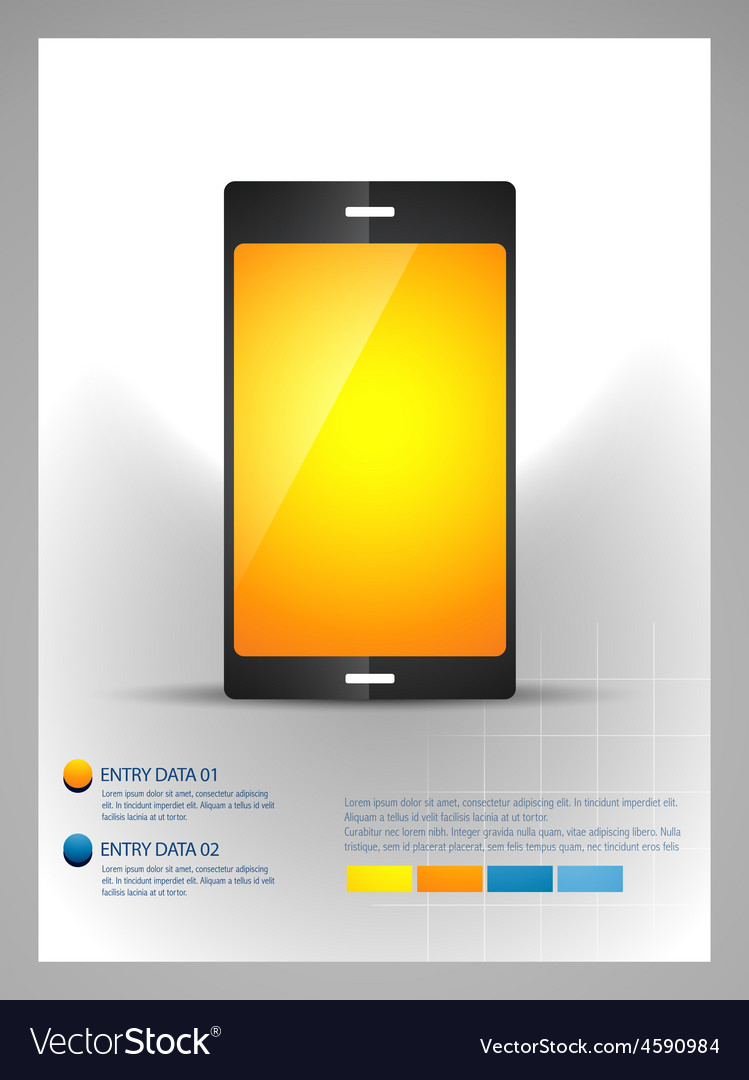Mobile phone infographic template vector   Price: 1 Credit (USD $1)