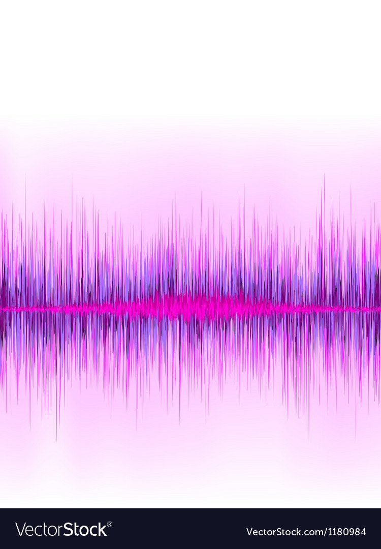 Pink sound wave on white background  eps8 vector | Price: 1 Credit (USD $1)
