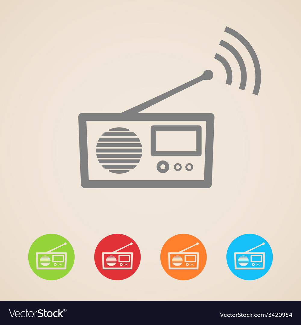 Radio icons vector | Price: 1 Credit (USD $1)