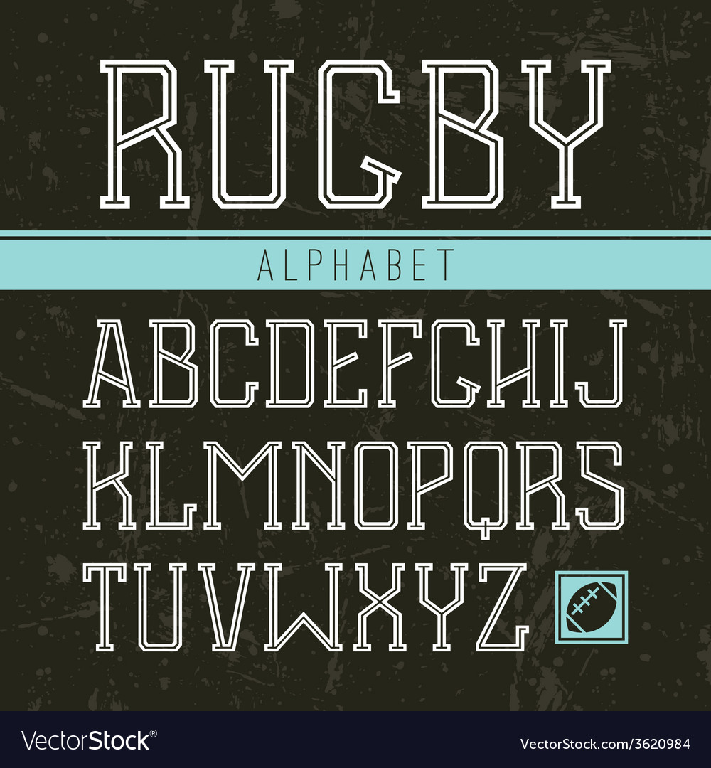 Serif font medium in the sport style vector | Price: 1 Credit (USD $1)