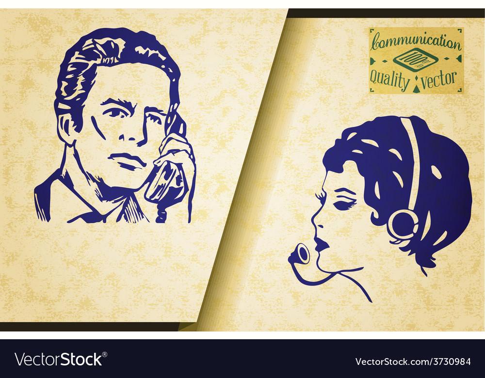 Vintage communication set vector   Price: 1 Credit (USD $1)