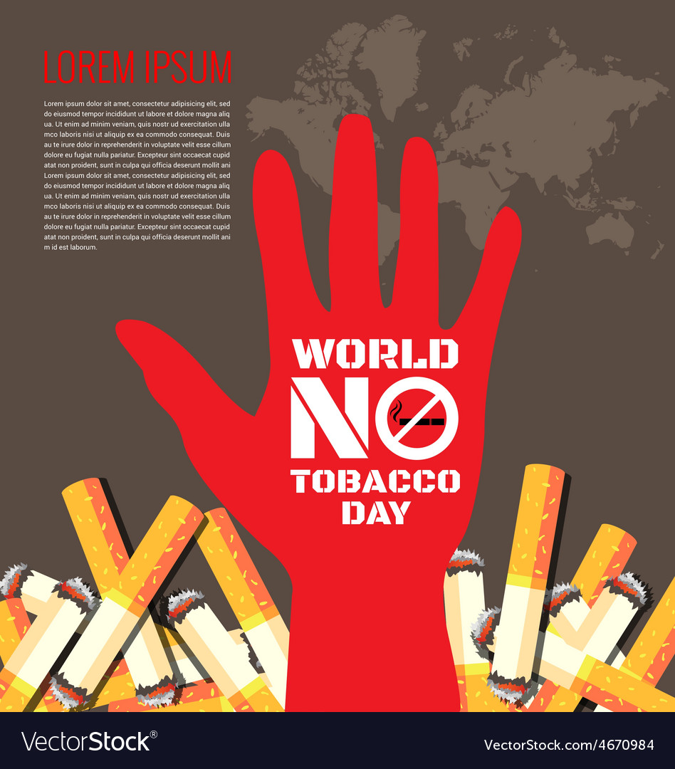 World no tobacco day background vector | Price: 1 Credit (USD $1)