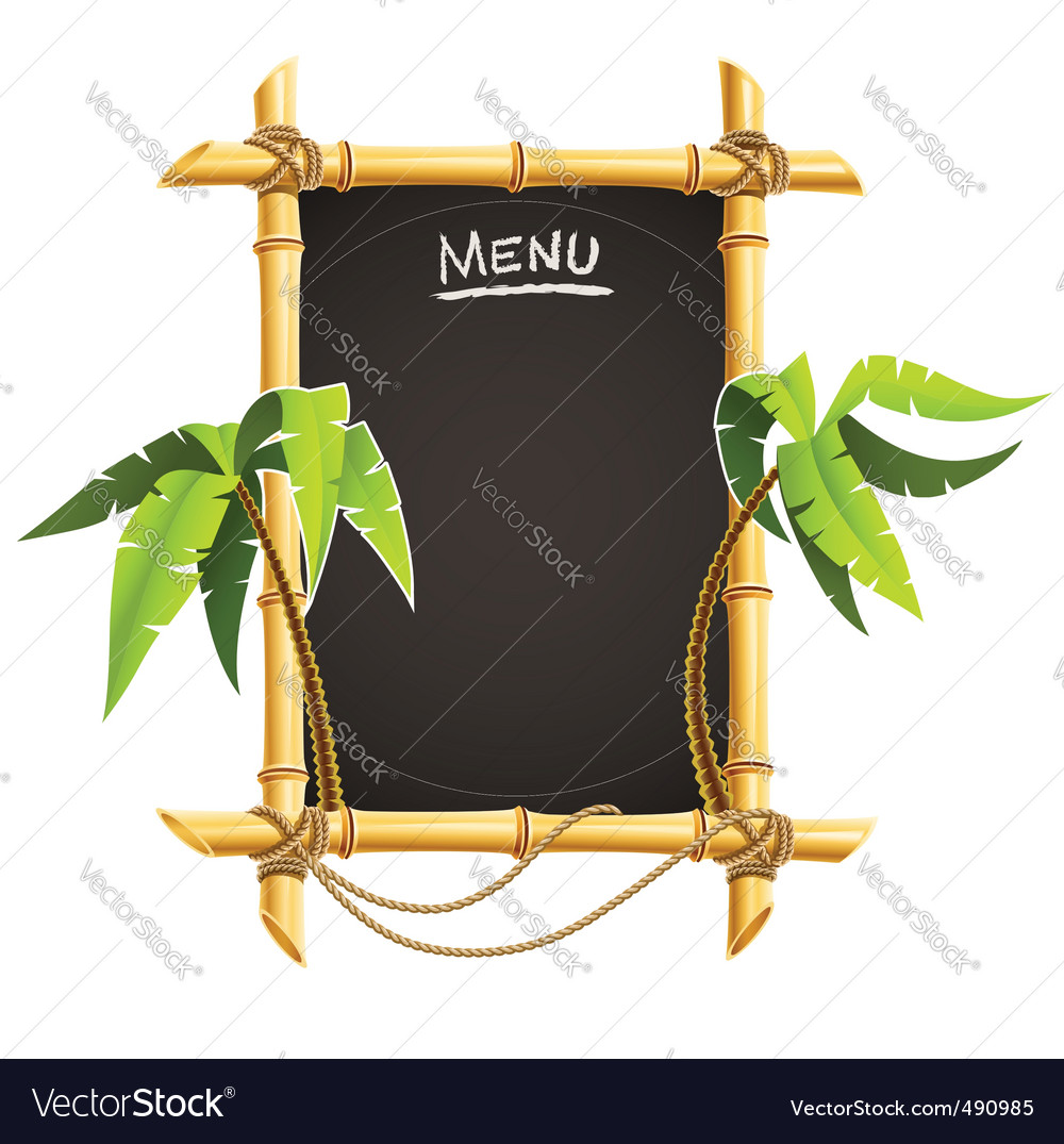 Bamboo frame vector | Price: 3 Credit (USD $3)